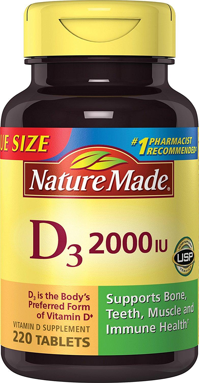 nature made vitamin d3 2000 iu tablets value size 220 ct. Black Bedroom Furniture Sets. Home Design Ideas